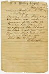 1864 February 12: President A. Lincoln, Washington, District of Columbia, to Governor Isaac Murphy