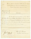 1865 December 15: J.W. Sprague, Little Rock, Arkansas, Appointment of John Tharp as Superintendent of Refugees and Freedmen for Woodruff County