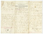 1866 March 22: J.W. Sprague, Bureau of Refugees, Freedmen and Abandoned Lands, Little Rock, to Governor Isaac Murphy, Concerning application of Mrs. Mary E. Davis for help in caring for her children