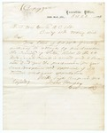 1867 October 22: Governor Isaac Murphy to Brigadier General E.O.C. Ord, Concerning authorization for organization of courts in Little River County