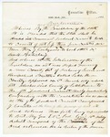 1867 October 22: Governor Isaac Murphy, Proclamation concerning organization of courts in Little River County