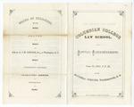 1867 June 12: Columbian College Law School Annual Commencement Program