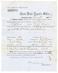 1867 February 9: W.R. Miller, Auditor, to Martin T. Taylor, Clarksville, Arkansas, Certifying that land has been paid for (includes land agent's certificates)