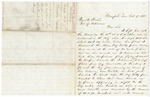 1868 October 17: Sam Houston, Memphis, Tennessee, to Governor Powell Clayton, Account of capture of the Hesper by Ku Klux Klan members aboard the steam tug Netty Jones