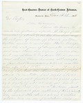 1868 December 15: D.P. Upham, Augusta, Arkansas, to Governor Clayton, Concerning raid of Ku Klux Klan leaders in Woodruff County