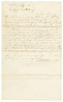 1868 November 22: John Turner, Deputy Sheriff, Independence County, to F.A. McClure, Affidavit as to conversation heard between Lieutenant Colonel W.J. Lester and C.W. Wood in Batesville, Arkansas