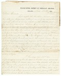 1868 November 21 and 1868 November 22: D.P. Upham, Batesville, to Governor Clayton, Report of an attack made by the Ku Klux Klan in Batesville