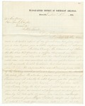 1868 December 3: D.P. Upham, Batesville, to Governor Powell Clayton, Report of Ku Klux Klan activities in Fulton County