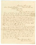 1869 March 30: Sam H. Davidson, Evening Shade, Arkansas, to Governor Powell Clayton, Request for payment for items taken by militia