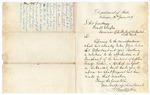 1869 June 28: Hamilton Fish, Department of State, Washington, District of Columbia, to Governor Powell Clayton, Regarding investigation of murder of George Parker, British subject, at Augusta, Arkansas