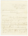 1869 January 18: J.T. Watson, Headquarters, Northeast Arkansas, Marion, Arkansas, to Governor Powell Clayton, Report of disturbances by Ku Klux Klan in Mississippi County