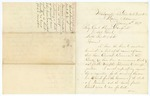 1869 January 15: J.T. Watson, Marion, Arkansas, to Brigadier General Keyes Danforth, Adjutant General, List of men who committed crimes and fled the state for Tennessee