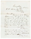 1871 July 19: William M. Davidson, Evening Shade, to Governor O.A. Hadley, Concerning claims of needy family in Sharp County