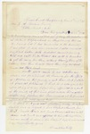 1871 January 12: Franklin Goss, Reedy Creek, Sharp County, to J.H. Barton, Little Rock, Arkansas, Political events of the county and state