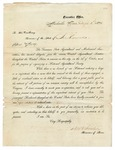 1871 September 1: D.W.C. Senter, Governor of Tennessee, to Governor of Arkansas, Invitation to convention to organize National Agricultural Society