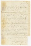 1871 January 6: William P. Jacobs, Lacross, Arkansas, to Governor Powell Clayton, Disfranchised Confederate soldiers in Izard County