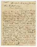 1872 January 7: H.A. Pierce, Fort Smith, Arkansas, to Governor O.A. Hadley, Concerning political situation in northwest Arkansas