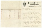 1873 March 26: John T. Jacobs, Governor of West Virginia, to Governor Elisha Baxter, Concerning bounty laws for ex-slaves