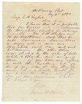 1873 January 4: James H. Moore, Arkansas Post, to Judge E.H. English, Concerning proposed appointment of Simon Bass, Negro, as Justice of the Peace