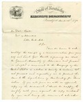 1873 March 22: P.H. Leslie, Governor of Kentucky, to Governor Baxter, Concerning bounty to Negro soldiers