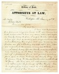 1873 January 13: A.B. Williams, Washington, Arkansas, to Governor Elisha Baxter, Report of political difficulties in Hempstead County