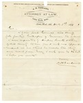 1873 December 1: A.H. Garland, Little Rock, to Governor Baxter, Concerning death of Monroe County sheriff