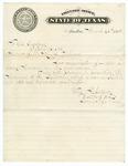 1873 March 25: Edmund J. Davis, Governor of Texas, to Governor Elisha Baxter, Acknowledging letter sent to Davis