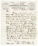 1873 January 28: E.H. English, Little Rock, to Governor Baxter, Concerning Justices of the Peace in several southeast Arkansas counties