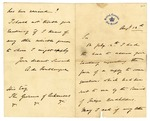 1873 August 12: Foublanque to Governor of Arkansas, Inquiring about earlier letter