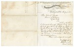 1874 July 17: S.S. Burdett, Washington, District of Columbia, to Governor Elisha Baxter, Letter transmitting land grant to Little Rock and Fort Smith Railroad