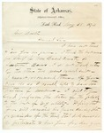 1874 May 28: W.J. McClellan, Adjutant General, to Governor Baxter, Concerning appointment of sheriff of Van Buren County