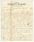 1874 May 23: James P. Cochran, Evening Shade, to Governor Elisha Baxter, Concerning the Brooks and Baxter trouble