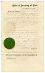 1874 March 20: Eugene F. Weigal, Missouri Secretary of State, Concurrent Resolution Number 51, to improve Mississippi River navigation