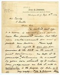 1874 September 18: Albert Pike and Robert W. Johnson, Washington, District of Columbia, to Governor E. Baxter, Concerning fees for legal work during Brooks-Baxter trouble
