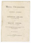 1875 January 21: Governor Garland and Major General Newton, General orders for state militia organizations