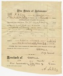 1875 February 18: C.W. Wood, Adjutant General, to A.S. King, Pay receipt for King's service as member of Arkansas State Guards