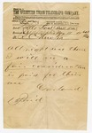 1875 May 11: Governor A.H. Garland to R.C. Newton, Telegram