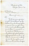 1875 April 14: Hamilton Fish, Secretary of State, Washington, District of Columbia, to Governor Augustus H. Garland, Requesting copies of state statutes