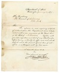 1875 January 22: Hamilton Fish, Secretary of State, Washington, District of Columbia, to Governor of Arkansas, Requesting new impression of the Great Seal of the State of Arkansas