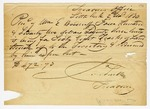 1820 November 2: James Scull, Territorial Treasurer, to William E. Woodruff, Receipt