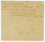 1821 September 15: Territory of Arkansas to William E. Woodruff, Pay receipt for publishing Governor's proclamation