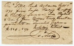 1821 October 1: James Scull, to Sheriff Joseph Harding, Lawrence County, Receipt