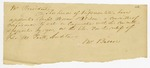 1823: Henry L. Biscoe to the President of the Legislative Council, Concerning a bill of relief