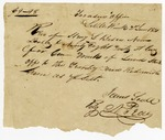 1831 June 2: James Scull, Territorial Treasurer, by N. Peay, to Henry L. Biscoe, Receipt for tract of redeemed land