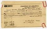 1835 December 1: C.P. Bertrand, Territorial Treasurer, to Charles Robertson, Sheriff of Green [sic] County, Receipt