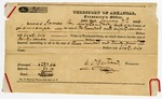 1836 January 7: C.P. Bertrand, Territorial Treasurer, to James M. Kuykendall, Sheriff of Lawrence County, Receipt