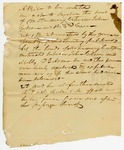 """Undated: A bill to be entitled """"An act to dissolve the bond of matrimony between John Gibson and Milley D. Gobson"""""""