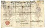 1836 April 10: Martin Van Buren, President of the United States, to John Wilson Williams of Hempstead County, Arkansas, Land grant