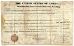 1836 April 15: Martin Van Buren, President of the United States, to Asa Thompson and John W. Williams of Hempstead County, Arkansas, Land grant