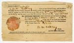 1837 October 18: A.M. Oakley, Circuit Court Clerk, Hempstead County, Arkansas, Certificate of Record (fragment)
